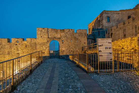 Exterior of the castle of Rocca Imperiale Calabria