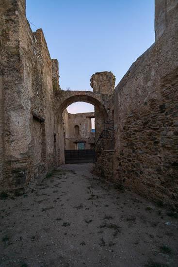 Interior of the castle of Rocca Imperiale Calabria