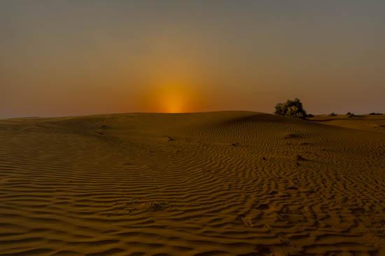 Tramonto nel deserto... Dubai