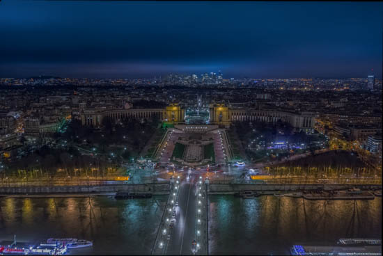 Panorama from the third floor of the Eiffel Tower Paris