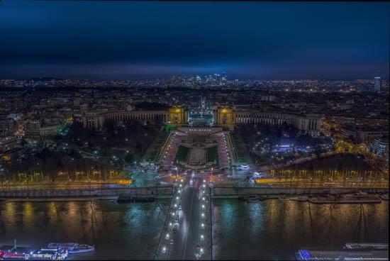 Panorama dal terzo piano della Tour Eiffel Parigi