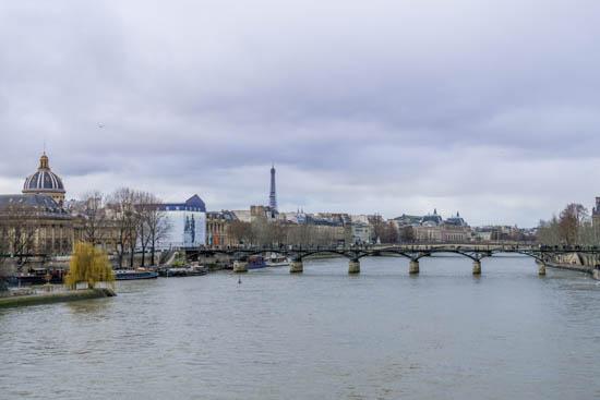 Vista del ponte degli artisti Parigi