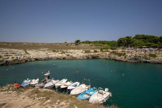 Panorama della spiaggia di Porto Badisco - Puglia