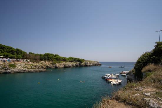 Panorama della spiaggia di Porto Badisco Puglia