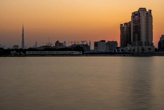 Tramonto sul Creek Dubai