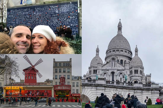 Basilica del Sacro Cuore - Le mur des Je t'aime - Moulin Rouge