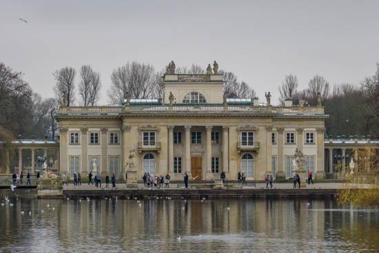 Palazzo sull'acqua Parco Łazienki Varsavia