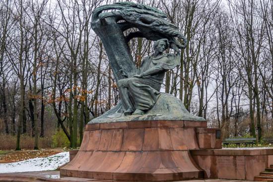 Statua Fryderyk Chopin ŁazienkiPark Varsavia