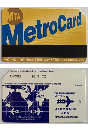 Metrocard Airtrain New York