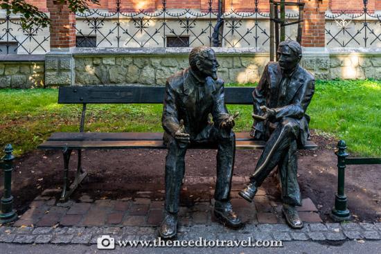 Otton Nikodym and Stefan Banach - Planty Park - Krakow